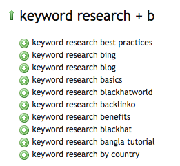 keyword research uber suggest